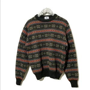 IZOD X LACOSTE Vtg 100% Wool Fair Isle Sweater XL